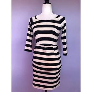 Urban outfitters black & white striped dress